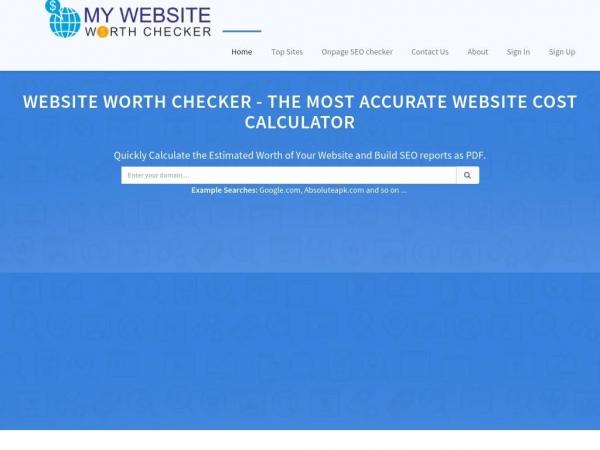mywebsiteworthchecker.com